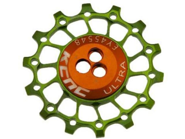 KCNC Asymmetrical Jockey Wheel 12T Narrow Wide for 11/12-speed Shimano/SRAM, yellow green